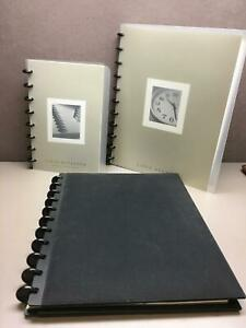 Levenger Circa Black Bookcloth Letter Size Notebook With Circa Agenda