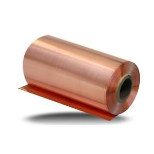 Us Stock 0 04mm X 100mm X 1000mm 99 9 Pure Copper Cu Metal Sheet Foil