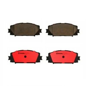 Front Brake Pad Set Ceramic Slotted Lubricant Brembo For Lexus Toyota Prius
