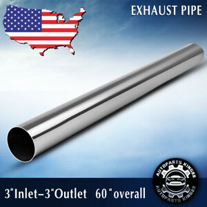3 Inlet 3 Outlet Exhaust Pipe 60 5 Feet Length Straight Tube Stainless Steel