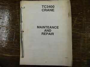 Terex Simon Ro Stinger Tc3400 Telescopic Crane Boom Shop Service Repair Manual