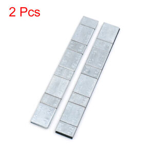 2 1oz Adhesive Back Wheel Balance Weights Strips For Motorcycle 134 X 18mm 2pcs