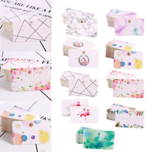900pcs Jewelry Earring Ear Studs Hanging Display Holder Hang Cards 5 0x3 0cm