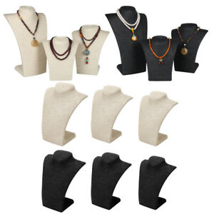 6pcs Necklace Pendant Display Bust Mannequin Jewelry Display Stand 3 Size