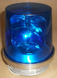 Edwards 52cb n5 40wh Warning Beacon Blue Rotating Beacon Thread Mount Halogen
