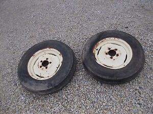 Allis Chalmers Wd45 Wd 45 Tractor Ac Rims 6 00 X 16 6ply Armstrng Front Tires
