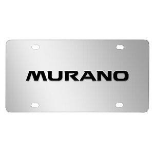 Nissan Murano 3d Black Logo Mirror Chrome Stainless Steel License Plate