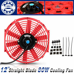 12 Inch Slim Pull Push Radiator Universal Electric Cooling Fan 80w Mount Kit