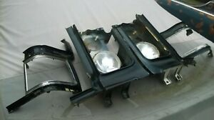 1973 Buick Riviera Head Light Turn Signal Housing Bezels L r With Fillers