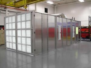 Crossdraft Spray Paint Booth 10 Wide 8 Tall 20 Deep With Air Make Up Unit
