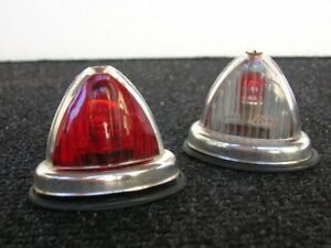 1 Hella Light Vintage Accessory Lamp Kleinwagen Vw Red White K4002 K14011 Nos