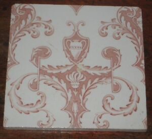 English Victorian Tile Symmetric Classically Inspired Design