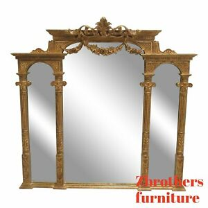 Harrison Gil Gold Gilt French Regency Hanging Wall Console Mirror Louis Xv