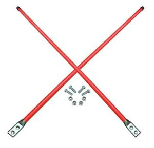 New Snow Plow Replacement Blade Guide Flourescent Orange Kit Marker 48 Inch