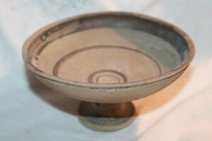Ancient Greek Hellenistic Pottery Stem Plate Dish 4th Century Bc