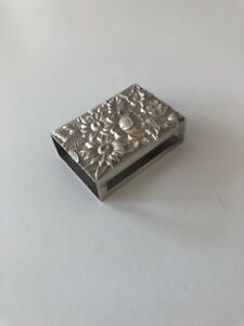 S Kirk Son Repousse Sterling Silver Ornate Match Safe Box Holder 90f