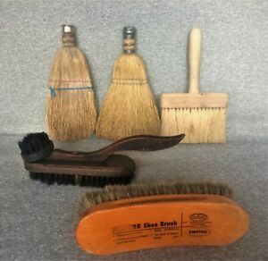 Vintage Whisk Brooms Lot Of 5 Country Farmhouse Decor Collectible Free Shipping