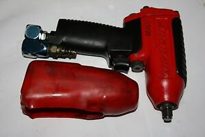 Snap on Tools Mg325 3 8 Drive Impact Air Wrench W boot Swivel Air Hose Ya502m