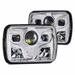 Led Projector Headlights S13 180sx Sanitra Ae86 Square General Purpose Japan New
