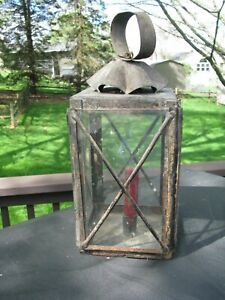 Early Primitive Tin Candle Lantern