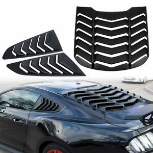 Rear Window Louvers Side Window Scoop Louvers For Ford Mustang 2015 2019