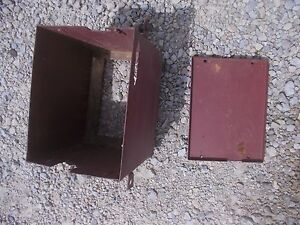 Allis Chalmers G Tractor Ac Battery Box Holder W Lid