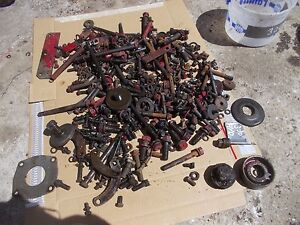 Farmall 300 Rc Tractor Box Of Bolts Nuts Spring Parts Cap Hyd Oil Dip Stick Etc