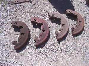 Farmall International Tractor Nice Orgnl Ih Rear Split Half Press Steel Weights