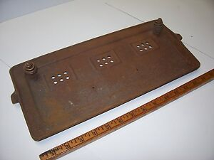 Antique Vintage Gas Boiler Cast Iron Burner Grate Firebox Cover Rectangle 00s