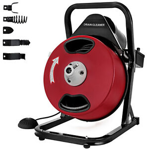 50ft 1 2 Drain Auger Pipe Cleaner Cleaning Machine Sewage Safe Electric Tool