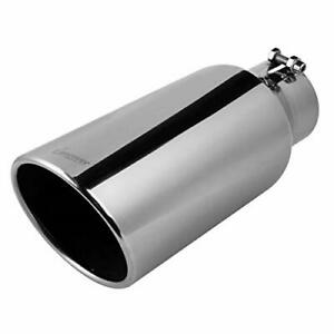 Upower Universal Diesel Trucks Car Exhaust Tip 15 Long Stainless Steel Bolt On