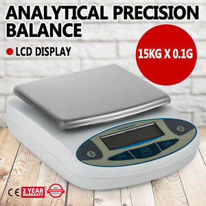 Analytical Balance 15000g X 0 1g Lab Precision Electronic Scale Accuracy 0 1g