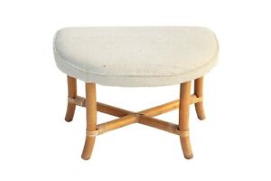 Demilune Ottoman Rattan Willow And Reed Tommi Parzinger Vanity Ficks Reed Bench