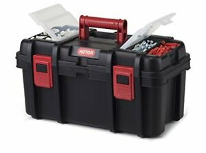 Keter Classic Tool Box 19 Plastic Portable Organizer Tool Box Storage Solution