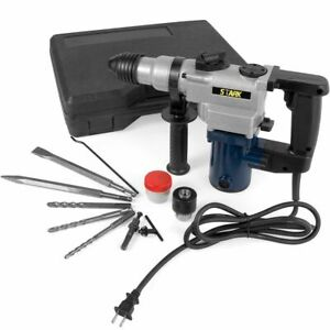 Electric Rotary Hammer Drill Variable Speed 1 Sds Plus Demolition With Bits