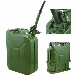 5gallon 20l Jerry Can Gas Diesel Fuel Steel Tank Green Holder Mount Nato Style