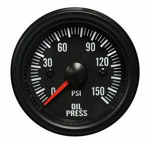 Prosport Oil Pressure Gauge Waterproof Electrical White Led Performance 52mm