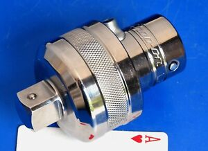 Snap on Tools 3 4 Drive Knurled Chrome Socket Wrench Ratchet Adaptor New 2017