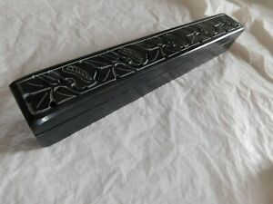 Old Vintage Soapstone Incense Box Burner Container Asian Antique Decoration Chic
