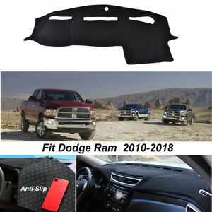 Dasboard Dashmat Dash Cover For Dodge Ram 1500 2500 2011 2016 Non slip Pad Black