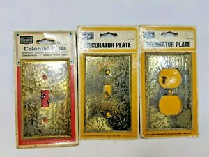 Lot Of Vintage Brass Bronze Light Switch Outlet Cover Wall Plate