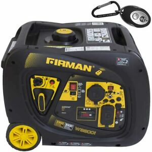 Firman W03083 Whisper Series 3000 Watt Electric Start Inverter Generator W