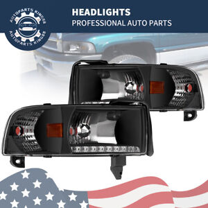 For 1994 2001 Dodge Ram 1500 2500 3500 Headlights Corner Signal Lamps W Led Drl