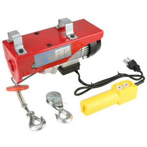 440 Lb Electric Cable Hoist Crane Lift Garage Auto Shop Winch W Remote 110v New