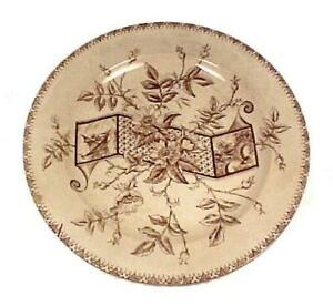 Hanley Brown Transferware Aesthetic Antique Plate Whittaker England Victorian