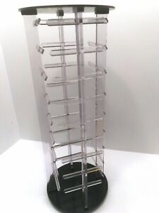 Acrylic Earring Display Revolving Spinning 4 Sided Organizer For Carded Earrings