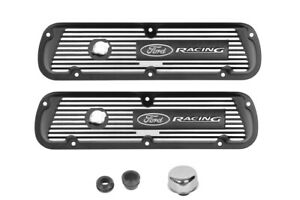 Ford Performance Black Aluminum Valve Covers Ford Racing Logo 289 302 351w