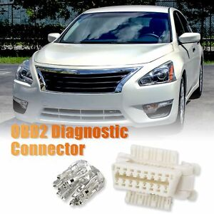 Obd2 Diagnostic Connector Female Socket W 16 Terminal For Toyota Kia Nissan