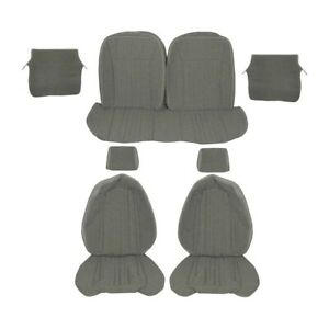 Front Rear Upholstery Cloth Opal Gray 1993 Mustang Hatchback Sport Seats