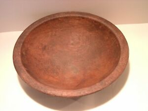 Small Antique Treen Treenware Bowl Slightly Oval 6 5 Inches Across